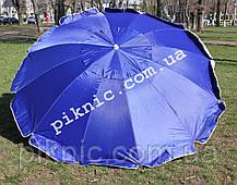 Торговый зонт 2,5м уличный с клапаном 12 спиц круглый Зонт для торговли на улице сада Синий 351, фото 3