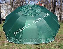 Зонт торговый 2,5м с клапаном 12 спиц круглый Усиленный зонт для торговли на улице сада рыбалки 351, фото 3