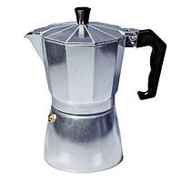 Гейзерная кофеварка 450 мл 9 чашек Con Brio CB6109 Silver