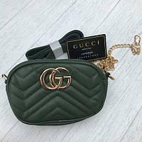 Женская сумочка Gucci Гуччи зеленый, фото 1
