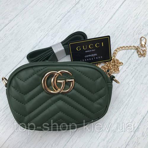 Женская сумочка Gucci Гуччи зеленый