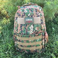 Городской и школьный рюкзак Adidas камуфляжный (хаки), фото 1