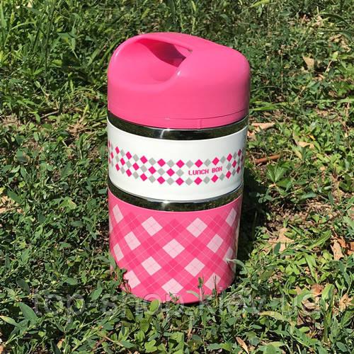 Ланч бокс (Двухъярусный) Lunch Box Frico Fru термос для еды А-Плюс 960 мл