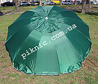 Зонт торговый 2,5м с клапаном 12 спиц круглый. Усиленный зонт для торговли на улице, сада, рыбалки!