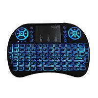 Беспроводная русская клавиатура с подсветкой с тачпадом mini keybord i8, фото 1