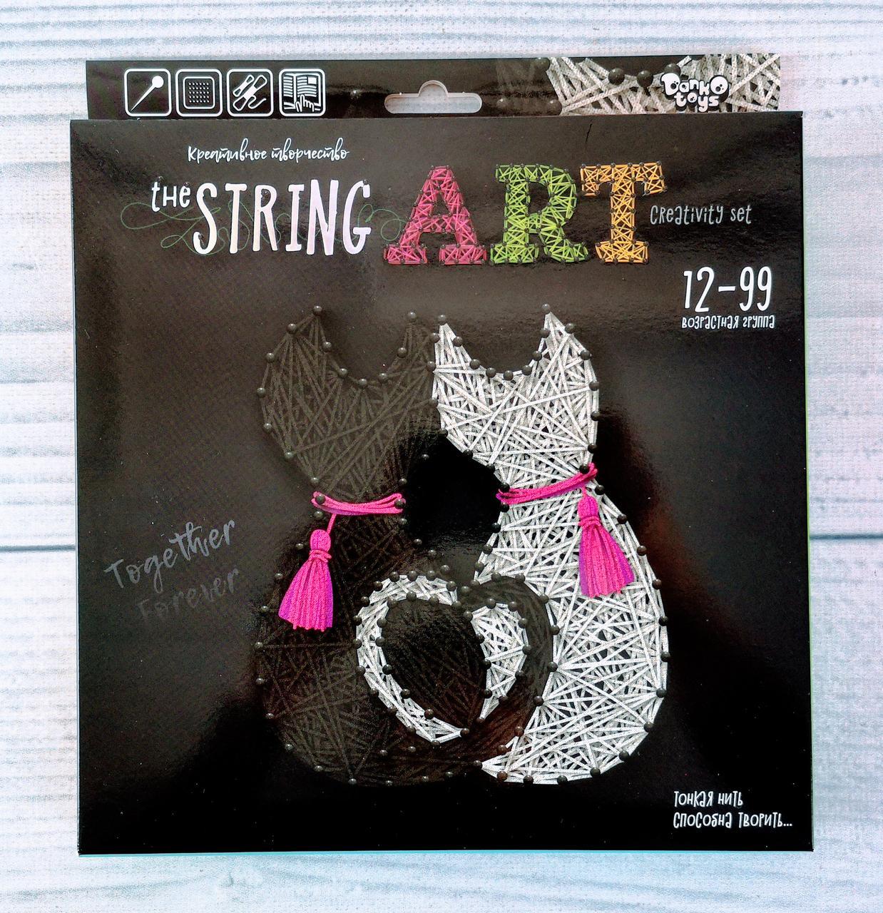 Набір для творчості String Art Кішки STRA-01-04 Danko-Toys Україна