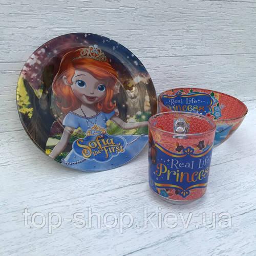 Набор детской посуды для девочки  (принцеса софи)