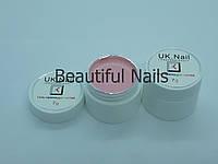 Гель-краска для ногтей UK.Nail №02 цвет пудра.7 грамм, фото 1