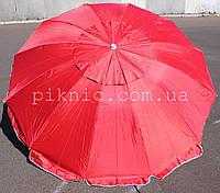Зонт торговый, уличный 2,5м с клапаном 12 спиц. Усиленный зонт для торговли на улице, сада, рыбалки. Красный!
