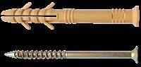 Дюбель для швидкого монтажу 6х40мм.(з коміром та вусами ) (100шт)