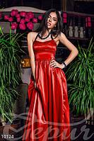 Женское вечернее корсетное платье в пол на спинке переплет тесьмой с потайной молнией стрейч атлас, фото 1