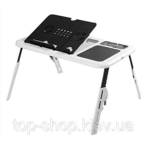 Портативный складной столик для ноутбука с охлаждением E-Table LD09, фото 1