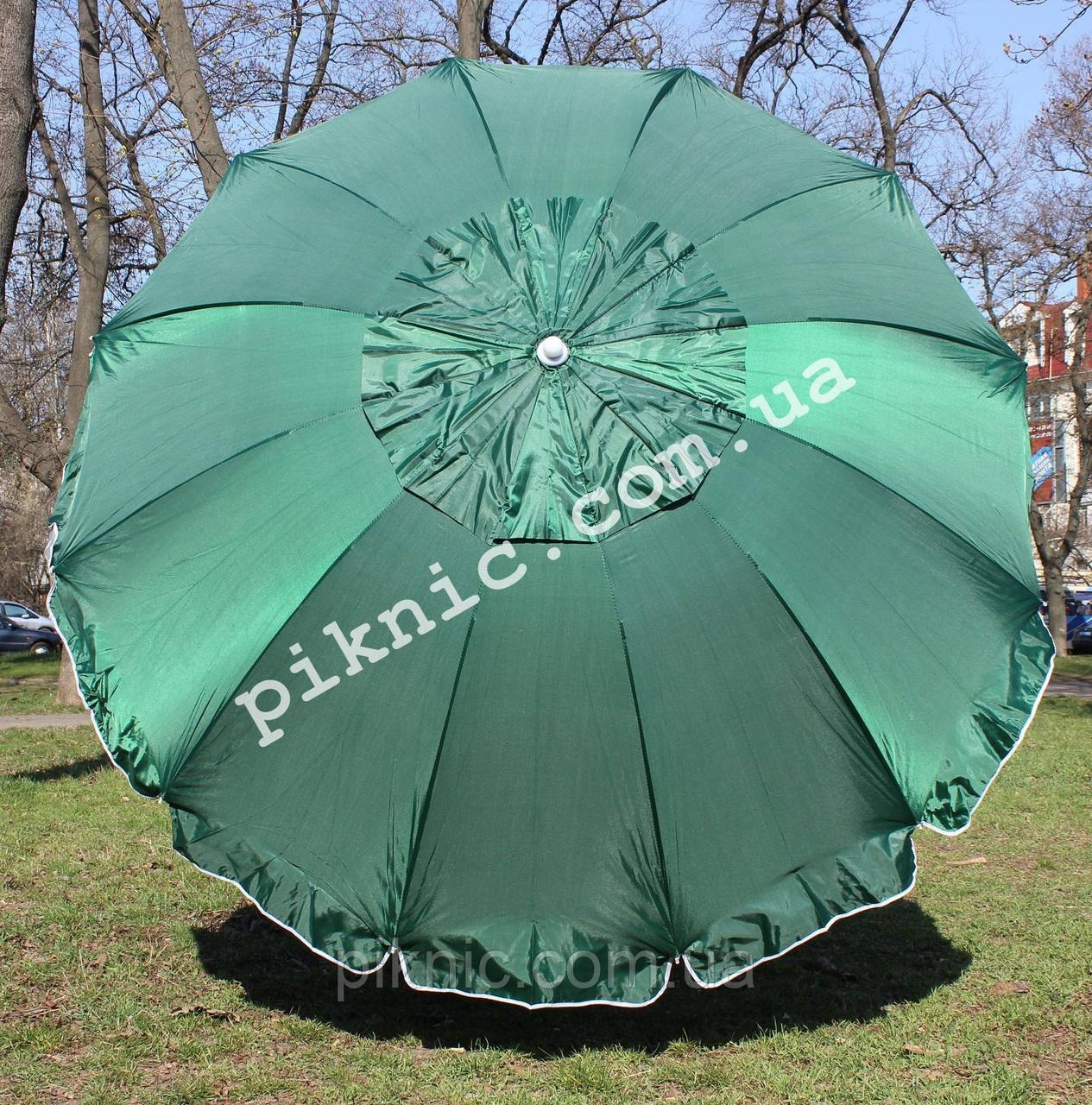 Зонт торговый 2,8м с клапаном 12 спиц круглый. Усиленный зонт для торговли на улице!