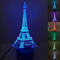 """Дитячий 3D світильник нічник """"Ейфелева вежа"""", фото 1"""