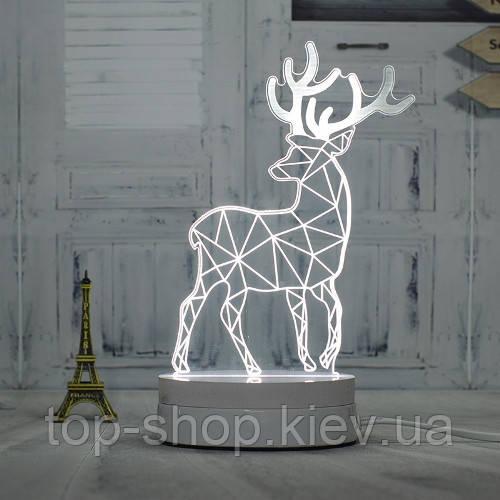 """3D ночник """"Олень"""" 7 цветов свечения"""