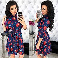 Стильное женское платье с красивыми расцветками 42 - 48 рр новинка