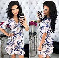 Женское модное платье с запахом 42 - 48 рр