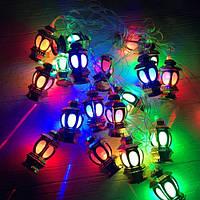 Новогодняя гирлянда фонарики внутренняя 20 led (Большие), фото 1