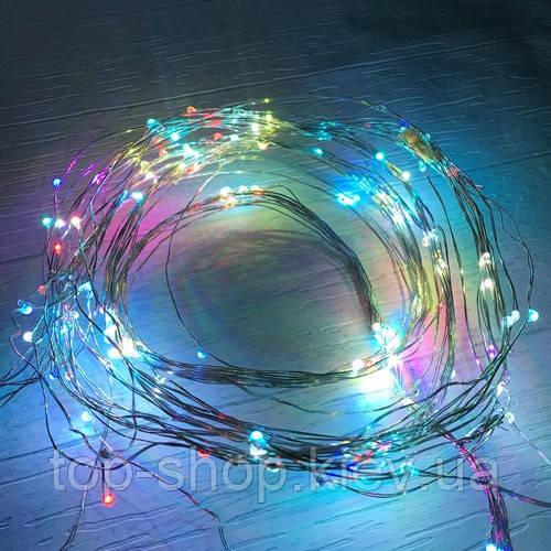 Новогодняя cветодиодная гирлянда проволка от сети LED 180