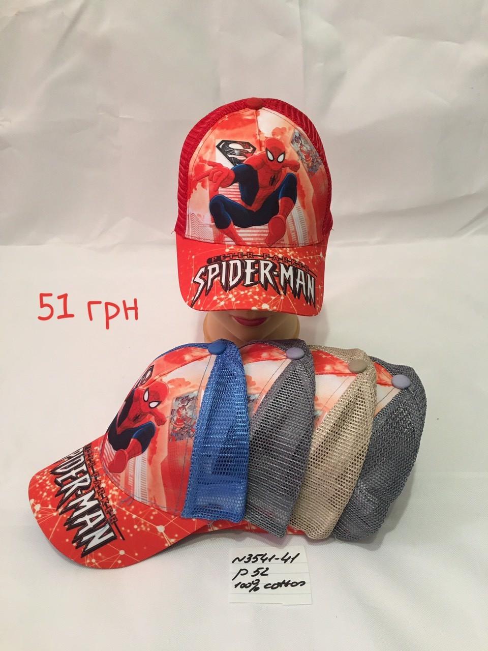 Кепка для мальчика Spiderman,р.52,коттон