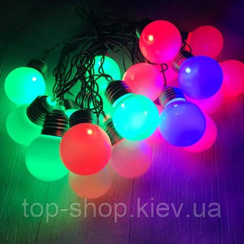 Гирлянда уличная LIGHT LED 20 шариков 5,3 м (ретро)