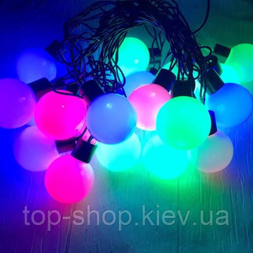 Гирлянда уличная шарики LIGHT LED 20 шариков 5,3 м (ретро)
