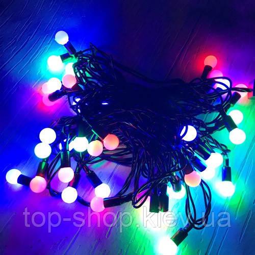 Гирлянда уличная шарики LED 40 шариков 6 м S