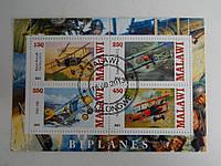 """Малави Блок """"Ретро Самолеты"""" 2013 г."""