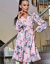 Женское платье с запахом с цветочным принтом (3360-3359-3362-3363-3361 svt), фото 3