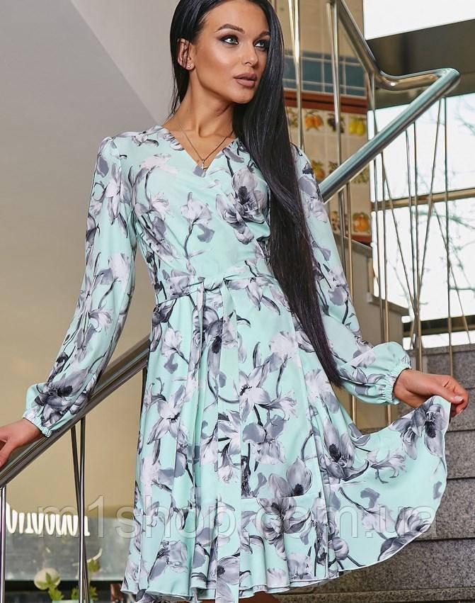 Женское платье с запахом с цветочным принтом (3360-3359-3362-3363-3361 svt)
