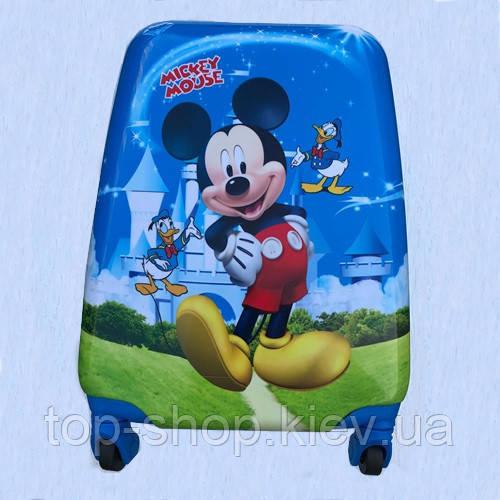 Детский чемодан на колесиках. Чемодан детский дорожный ручная кладь Мики маус мальчик