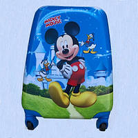 Детский чемодан на колесиках. Чемодан детский дорожный ручная кладь Мики маус мальчик, фото 1