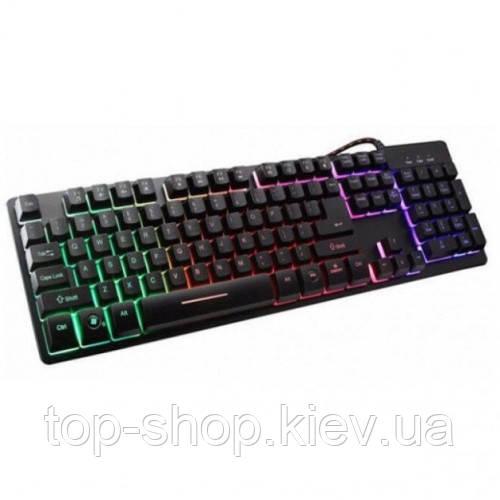 Компьютерная клавиатура с подсветкой ZYG 800 Черная