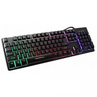 Компьютерная клавиатура с подсветкой ZYG 800 Черная, фото 1