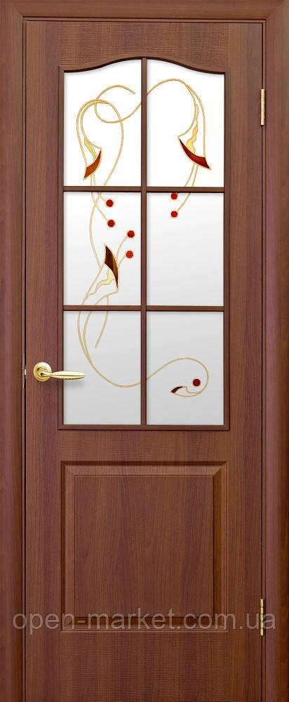 Модель Фортис ПВХ стекло Р1 межкомнатные двери, Николаев
