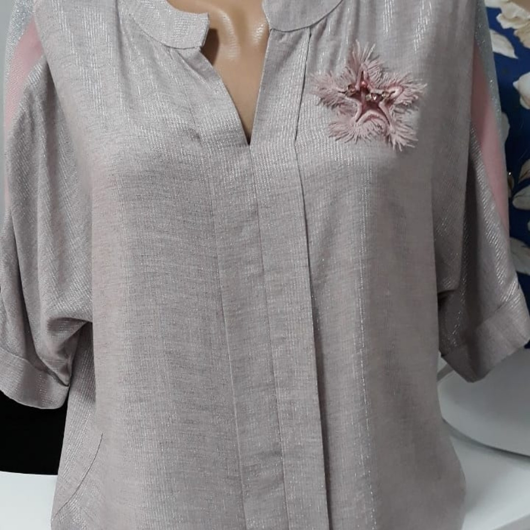 Блуза пудра
