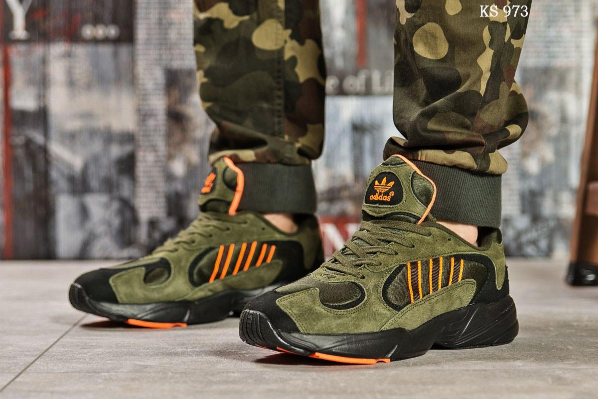 Мужские кроссовки Adidas Yung 1 (зеленые)