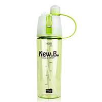Спортивная бутылка для воды с распылителем New. B 600 ml Салатовый