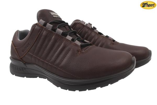 Туфли спорт Grisport натуральная кожа, цвет коричневый