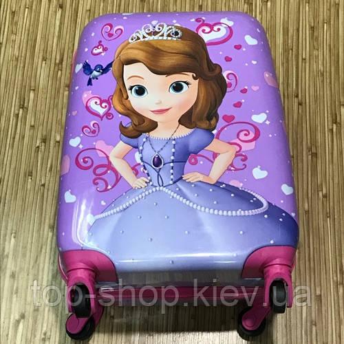 Детский чемодан на колесах Принцесса София