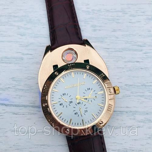 Часы-зажигалка ZHUOHENG SINCE2010 2-в-1: Кварцевые часы + спиральная зажигалка