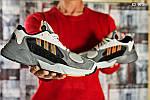 Мужские кроссовки Adidas Yung 1 (серо-оранжевые), фото 2