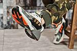 Мужские кроссовки Adidas Yung 1 (серо-оранжевые), фото 3