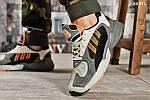 Мужские кроссовки Adidas Yung 1 (серо-оранжевые), фото 4