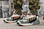 Мужские кроссовки Adidas Yung 1 (серо-оранжевые), фото 5