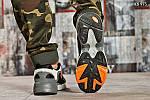 Мужские кроссовки Adidas Yung 1 (серо-оранжевые), фото 7