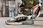 Мужские кроссовки Adidas Yung 1 (серо-оранжевые), фото 6