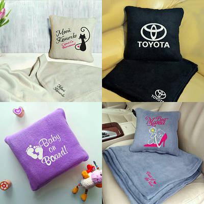Текстиль на подарок подушки пледы