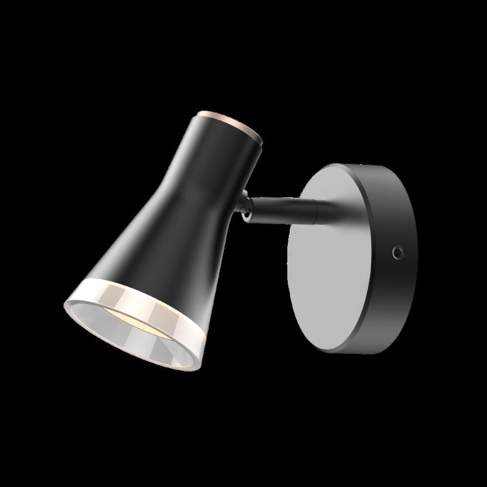 Спотовый светодиодный светильник (бра) MAXUS MSL-02C 4W 4100K Черный