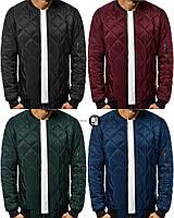 Мужская синтепоновая стеганая куртка/бомбер 4 цвета в наличии